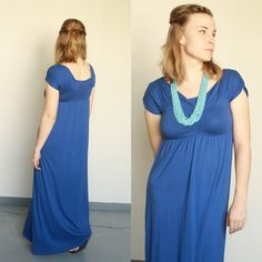 refashioned using the bodice lining with cute sleeves and a higher back, eliminating any need for layers.  love this!