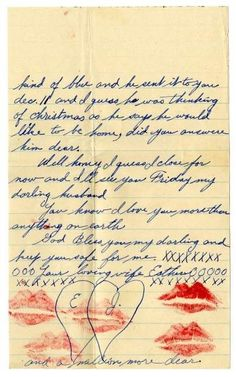 WorldwarTwo  World War Ii Love Letter I Am So Glad That I