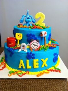 43 Best Ideas For Birthday Cake Blue Boy Themed Parties Clue Themed Parties, Party Themes For Boys, 2 Birthday Cake, 3rd Birthday Parties, Birthday Ideas, 4th Birthday, Clue Party, Blues Clues, Cute Cakes