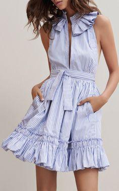 alexis mini ruffle dress