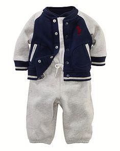 Ralph Lauren Childrenswear Infant Boys' Jacket, Henley & Pants Set - Sizes 3-9 Months - Newborn (0-9 months) - BABY - Kids - Bloomingdale's