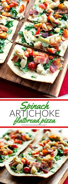 Grilled Spinach Artichoke Flatbread Pizza is a quick and easy dish for your next cookout. It's everything you love about the classic spinach artichoke dip but in a delicious flatbread pizza. Plus you can make this recipe in about 15 minutes! #ad @flatoutbread
