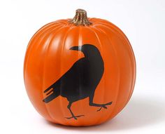 Craft Painting - Crow Pumpkin