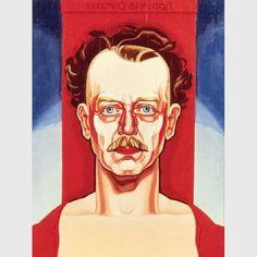 "Oscar Bluemner, ""Self-Portrait,"" (1933) , oil on panel"