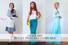 3 Easy DIY Princess Costumes || Merricksart.com