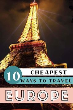 Travel Europe Cheap 10 of the cheapest ways to travel Europe on a budget. Use these easy to implement tips to learn how to travel Europe cheap, find the best ways to get around Europe, and other tips to save money when travelling in Europe. Backpacking Europe, Travel Europe Cheap, European Travel Tips, Europe On A Budget, Asia Travel, Budget Travel, Travel Usa, Dublin Travel, Ireland Travel