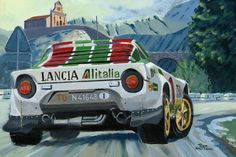 Print on Canvas Lancia Stratos Munari / Maiga Winners Rally MC 1977 Nagtegaal Jdm, Ferrari Car, Car Posters, Car Drawings, Canvas Prints, Art Prints, Automotive Art, Rally Car, Nice Cars