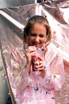 Pink, hologram, and Coca Cola