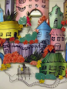 Lynn Walters - 'Made with Love' exhibition 2014 Love S, Mixed Media, Illustration Art, Objects, Houses, Sculpture, Crafts, Pocket Charts, Homes