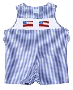 f4872149d Smocked Flag Shortall Kids Branding, Blue Gingham, Holidays With Kids, Boy  Blue,