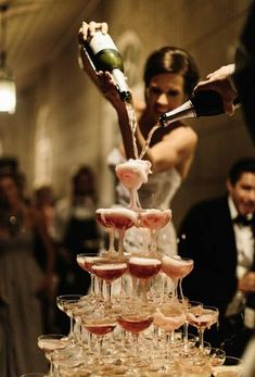 Not a sweet tooth? Forgo your wedding cake for a giant champagne tower instead!