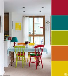 Color in kitchen.