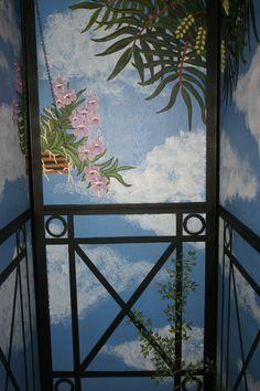 Hand painted House Elevator Cheetahdmr@aol.com Artist Dominique Rice.