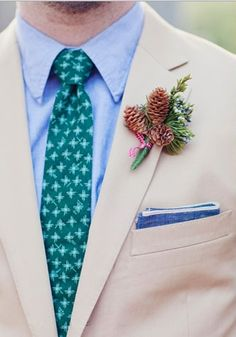unique boutonniere ideas | 35 Unique Boutonnieres Ideas For Perfect And Special Groom's Look ...