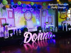 Debut Decorations, Debut Party, Balloons, Neon Signs, Design, Globes, Design Comics, Hot Air Balloons, Balloon