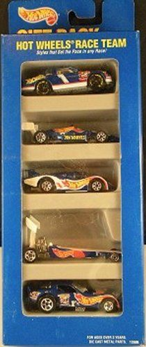 Hot Wheels Race Team Gift Pack 5 Car Set of 1:64 Scale Collectible Die Cast Cars…