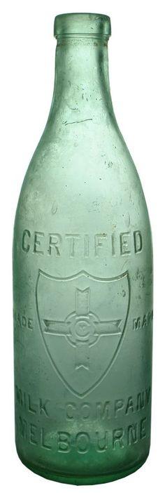 Auction 27 Preview   553   Certified Milk Company Melbourne Shield Antique Bottle