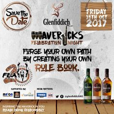 Dont Get Left Out Of The Annual Felabration Event With Glenfiddich Mavericks I Friday October 13th   Glenfiddich in collaboration with the highly anticipated annual Felabrationcelebrations will host a first of its kind event at Federal Palace Victoria Island on Friday 13th October 2017.  Date: Friday October 13th 3017.  Venue: Federal Palace Hotel Victoria Island Lagos.  The event is centred on the Glenfiddich Mavericks campaign which aims to celebrate people who are bold enough to forge…