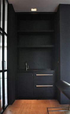 matt black and deep wood butler's pantry mb residence Briggs Solomon