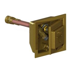 3/4 in. FPT x 16 in. Freezeless Polished Brass Box Wall Hydrant with Double-Check Backflow Preventer