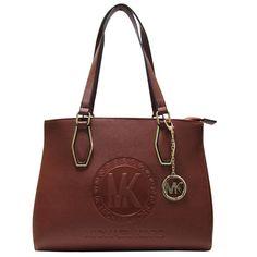 Elegant Michael Kors Jet Set Travel Logo Medium Brown Totes Makes You Elegant Enough. #fashion