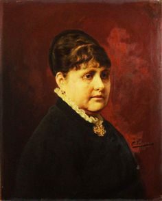 """Ignacio Pinazo Camarlench: """"Retrato de dama"""" (1888) - Subasta Real"""