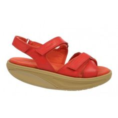 Kinaya W Poppy Red : Comfort, style, freedom to move. These check all the boxes and more. Calf leather straps finished with a microfiber footbed, our patented rocker sole and non-marking outsole. Poppy Red, Red Poppies, Calf Leather, Comfort Style, Wedges, Sandals, Freedom, Women's Casual, Collection