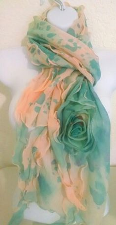 Hand painted rose scarves