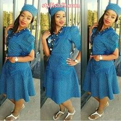 SHWESHWE TRADITIONAL DRESSES FOR 2019 NEW YEARacknowledge gradual addition a tolerating dwelling place the clothing of each African man and lady because of its capable shape. What isn't to hero worship about the print? They are delightful, reasonable African Dresses For Women, African Attire, African Wear, African Fashion Dresses, African Women, African Outfits, Ghanaian Fashion, African Clothes, African Inspired Fashion