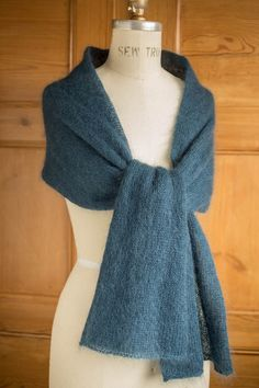 Alexandra's Airplane Scarf - Kidsilk Haze Version, free pattern at ChurchmouseYarns