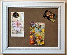 Large Magnetic Board w Microfiber Tan Fabric by AmazingBoutiqueC