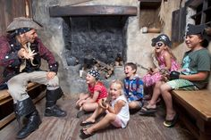 Swashbuckling storytelling at Pirate's Quest, Newquay, Cornwall