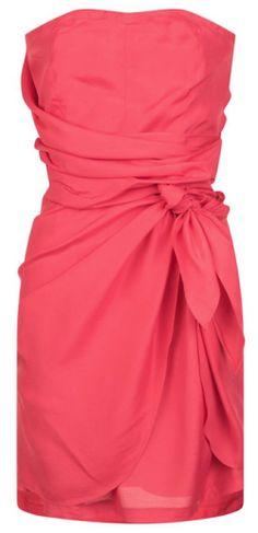 Robe drapée rose, Naf Naf, noel réveillon