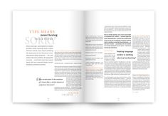 Magazine Spreads by Alyssa Bastien, via Behance