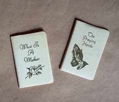 Two Vintage Miniature Books 1950s What is a by CrookedHouseBooks