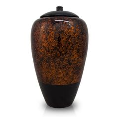 Bamboo Cremation Urn - Large - Holds Up To 200 Cubic Inches of Ashes - Amber Orange Black Memorial Urns for Ashes Under The Lights, Cremation Urns, Biodegradable Products, Contemporary Design, Amber, Bubbles, Vase, Laughter, Bridge