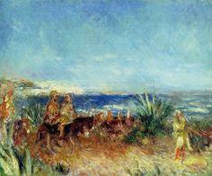 Arabs by the Sea.Pierre-Auguste Renoir (1841 - 1919)