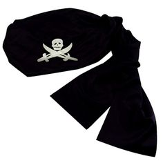 93854f3ed8f Black cotton pirate bandana Fits on head with elastic back to keep it on.  Made