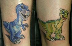 Land Before Time Tattoos both get chomper and blue and purple. Mine will have Charlie's heartbeat inside of mine