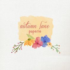 Customizable Bright Floral Rustic Shabby Chic by AutumnLanePaperie
