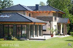 Szép és tartós tető Bramac tetőcserepekkel - Szép Házak Online Beautiful Homes, Gazebo, Outdoor Structures, Mansions, House Styles, Interior, Outdoor Decor, Dream Houses, Home Decor