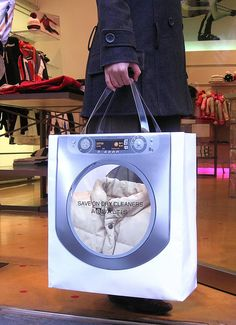 Creative bag by dry cleaners