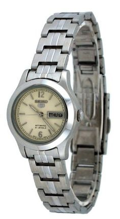 Seiko Women's SYMD97 Stainless Steel Analog with White Dial Watch Seiko. $77.96. Japanese automatic movement. Case diameter: 24.5 mm. Stainless steel case. Scratch resistant hardlex. Water-resistant to 30 M (99 feet). Save 58%!
