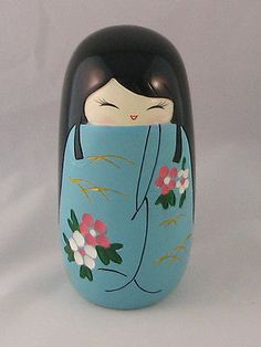 "Cute & Funky Oriental Kokeshi Doll ~ ""Mitsu"" in Home, Furniture & DIY, Home Decor, Other Home Decor 