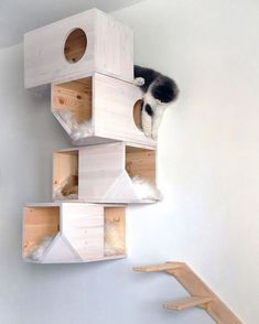 homemade DIY cat tower If I didn't live in a cat house I would totally do this for my cats. Homemade Cat Tower, Diy Cat Tower, Homemade Dog, Diy Casa, Cat Towers, Cat Room, Animal Projects, Cat Wall, Cat Furniture