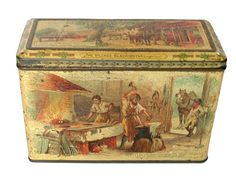 Carrs the Village Blacksmith 1897 biscuit tin