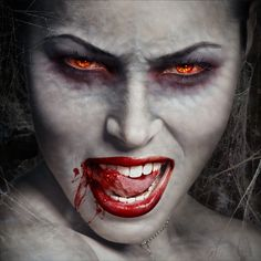Bite Me - A #Photoshop Vampire Tutorial ~ This is AWESOME! How to transform a photo's subject into a vampire. I think I'll do my kids and frame them as #Halloween decor!