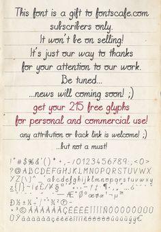 Handwriting Gift 01 Free Font Vintage Fonts Hand Writing Penmanship