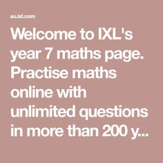 Welcome to IXL's year 8 maths page. Practise maths online with unlimited questions in more than 200 year 8 maths skills. Science Videos For Kids, Science Experiments Kids, Learning Sites, Learning Resources, Year 8 Maths, Ixl Math, Math Pages, Teaching Schools, Teaching Ideas