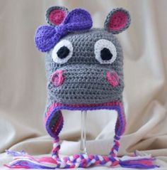 Are you on the hunt for a Crochet Hippo Pattern? You are in the right place. We have put together the best collection of ideas and free patterns. Crochet Hippo, Crochet Animal Hats, Crochet Kids Hats, Crochet Cap, Crochet Beanie, Cute Crochet, Crochet Crafts, Yarn Crafts, Crochet Projects